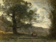 The Oak in the Valley painting reproduction, Jean-Baptiste Camille Corot