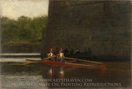 The Oarsmen painting reproduction, Thomas Eakins
