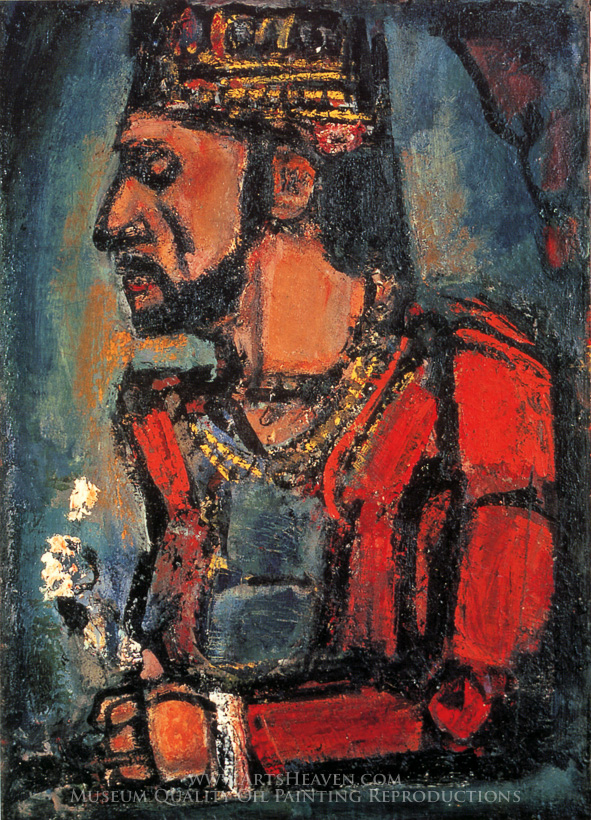 Reproduction Painting Georges Rouault The Old King Hand