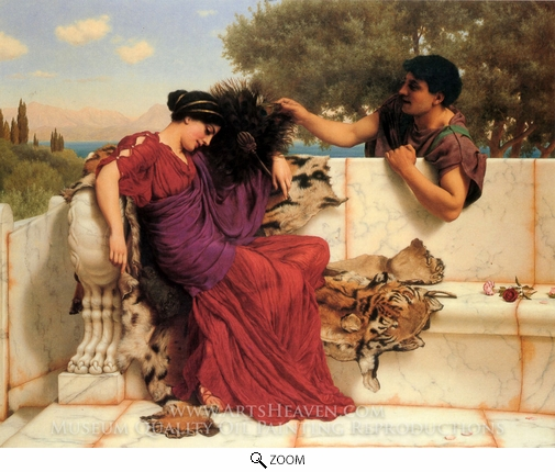 John William Godward, The Old Old Story oil painting reproduction
