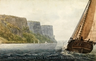 """The Packet """"Mohawk of Albany"""" Passing the Palisades painting reproduction, Pavel Petrovich Svinin"""