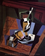 The Packet of Tobacco painting reproduction, Juan Gris