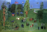 The Paddock painting reproduction, Raoul Dufy