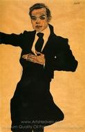The Painter Max Oppenheimer painting reproduction, Egon Schiele