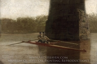 The Pair Oared Shell painting reproduction, Thomas Eakins