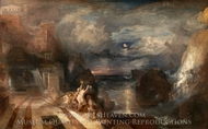 The Parting of Hero and Leander painting reproduction, Joseph M. W. Turner