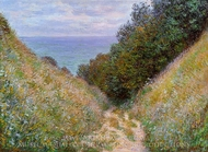 The Path at La Cavee, Pourville painting reproduction, Claude Monet