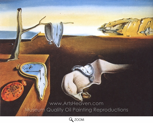 Salvador Dali (inspired by), The Persistence of Memory oil painting reproduction