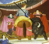 The Pica painting reproduction, Fernando Botero