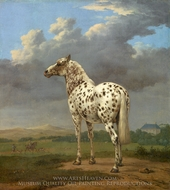 "The ""Piebald"" Horse painting reproduction, Paulus Potter"