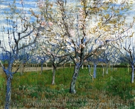 The Pink Orchard painting reproduction, Vincent Van Gogh