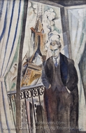 The Poet Phillippe Soupault painting reproduction, Robert Delaunay