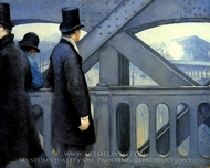 The Pont de Europe painting reproduction, Gustave Caillebotte