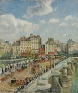 The Pont-Neuf: Rainy Afternoon painting reproduction, Camille Pissarro