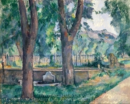 The Pool at the Jas de Bouffan painting reproduction, Paul Cezanne