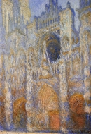 The Portal of Rouen Cathedral at Midday painting reproduction, Claude Monet