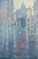 The Portal of Rouen Cathedral in Morning Light painting reproduction, Claude Monet
