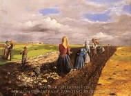 The Potato Harvest painting reproduction, Janos Pentelei Molnar