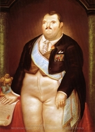 The President painting reproduction, Fernando Botero