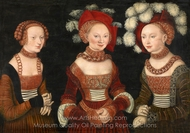 The Princesses Sibylla painting reproduction, Lucas Cranach