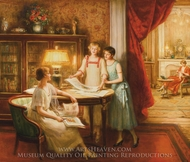 The Print Connoisseurs painting reproduction, Albert Lynch