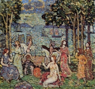 The Promenade painting reproduction, Maurice Prendergast