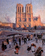 The Quai Saint-Michel and Notre-Dame painting reproduction, Maximilien Luce