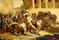 The Race of the Riderless Horses painting reproduction, Theodore Gericault