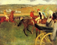 The Racecourse, Amateur Jockeys painting reproduction, Edgar Degas