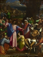 The Raising of Lazarus painting reproduction, Sebastiano Del Piombo