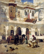 The Rajah Starting on a Hunt painting reproduction, Edwin Lord Weeks