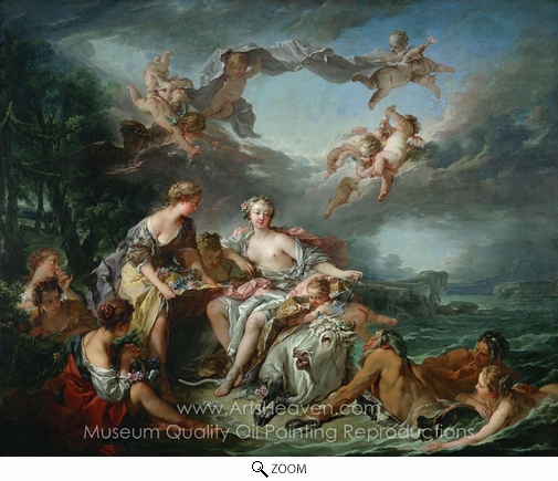 reproduction painting francois boucher the rape of europa