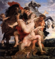 The Rape of the Sabine Women (The Rape of the Daughters of Leucippus) painting reproduction, Peter Paul Rubens