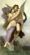 The Rapture of Psyche (Le Ravissement de Psyche) painting reproduction, William A. Bouguereau