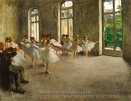 The Rehearsal painting reproduction, Edgar Degas