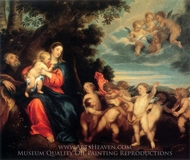 The Rest on the Flight into Egypt painting reproduction, Sir Anthony Van Dyck