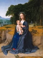 The Rest on the Flight into Egypt painting reproduction, Gerard David