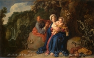 The Rest on the Flight into Egypt painting reproduction, Pieter Lastman