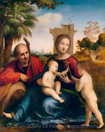The Rest on the Flight into Egypt with St. John the Baptist painting reproduction, Fra Bartolommeo