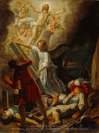 The Resurrection painting reproduction, Pieter Lastman