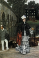 The Return from the Boating Trip painting reproduction, James Tissot