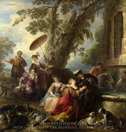 The Return from the Hunt painting reproduction, Joseph Parrocel