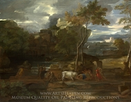 The Return of the Ark painting reproduction, Sebastien Bourdon