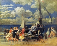 The Return of the Boating Party painting reproduction, Pierre-Auguste Renoir