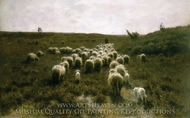 The Return of the Flock, Laren painting reproduction, Anton Mauve