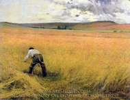 The Ripened Wheat painting reproduction, Jules Bastien-Lepage