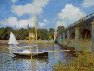 The Road Bridge at Argenteuil painting reproduction, Claude Monet
