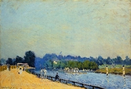 The Road from Hampton Court painting reproduction, Alfred Sisley