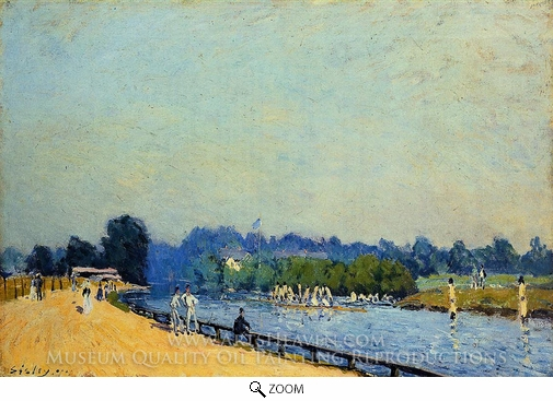 Alfred Sisley, The Road from Hampton Court oil painting reproduction