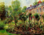 The Rose Garden at Wargemont painting reproduction, Pierre-Auguste Renoir